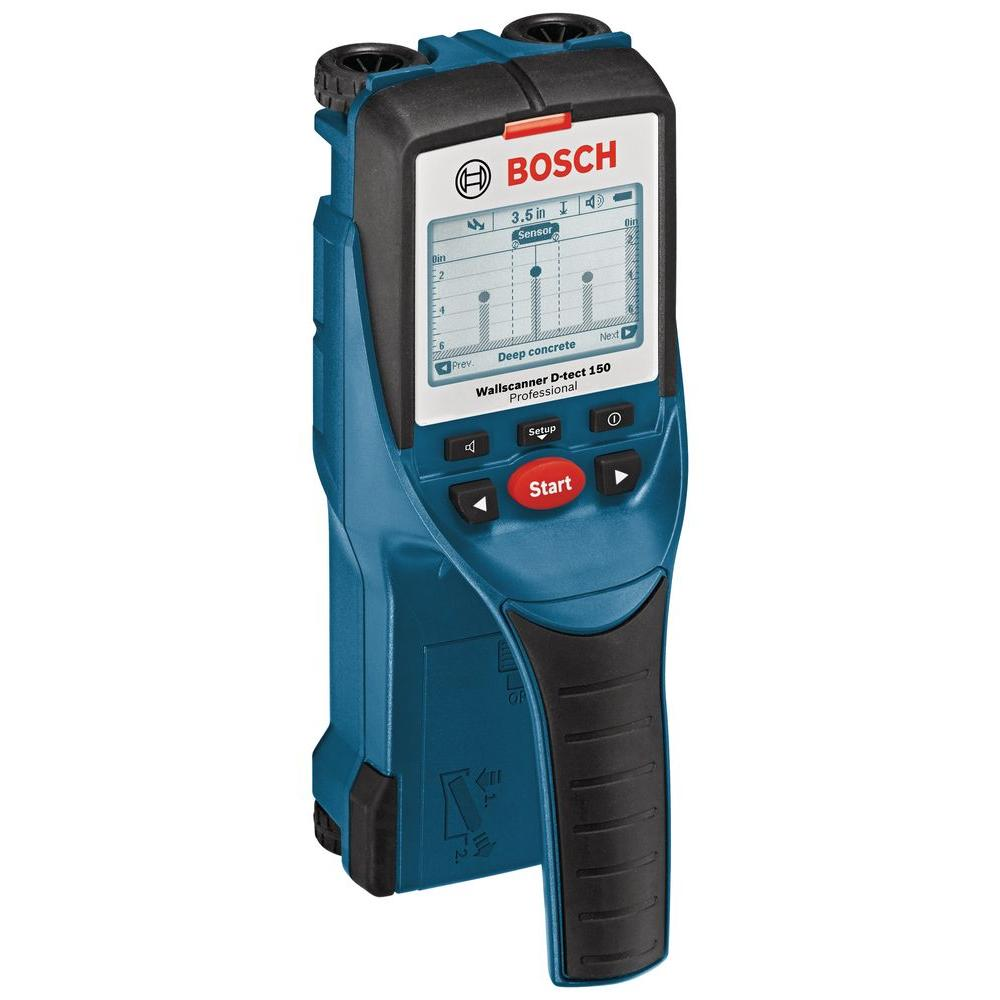 Bosch D Tech 6 In Multi Scanner With 7 Detection Modes For Metal Wood Live Wiring And Plastic Pipes D Tect 150 The Home Depot