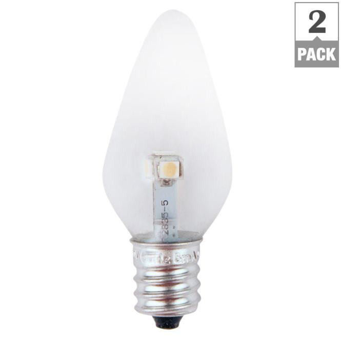 Meridian 7w Equivalent Bright White Clear C7 Non Dimmable Led Replacement Light Bulb