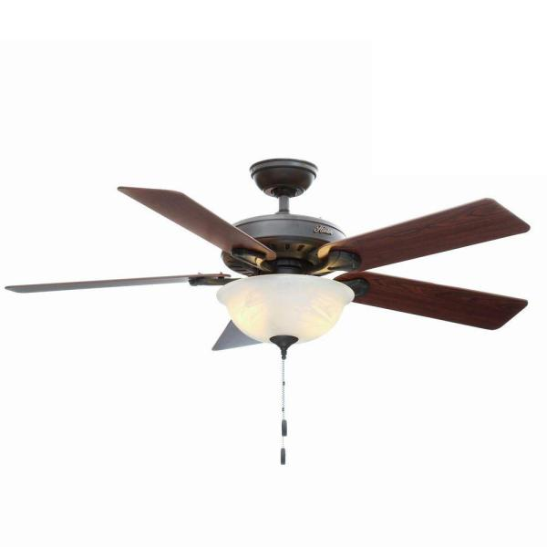 Hunter Pro s Best Five Minute 52 in  Indoor New Bronze Ceiling Fan     Indoor New Bronze Ceiling Fan with Light Kit