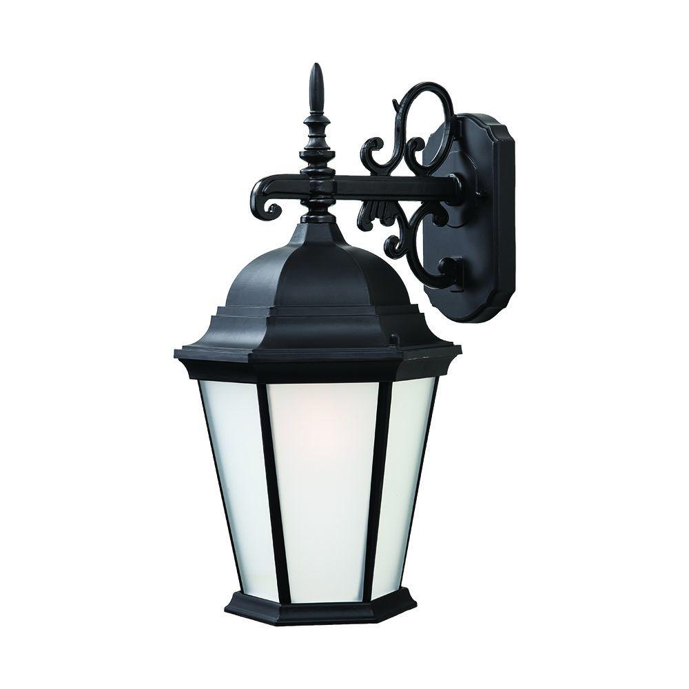 Acclaim Lighting Richmond Collection 1-Light Matte Black ... on Outdoor Lighting Fixtures Wall Mounted id=43613