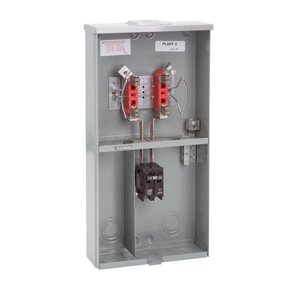 100 Amp Milbank Phase Meter 3 Base