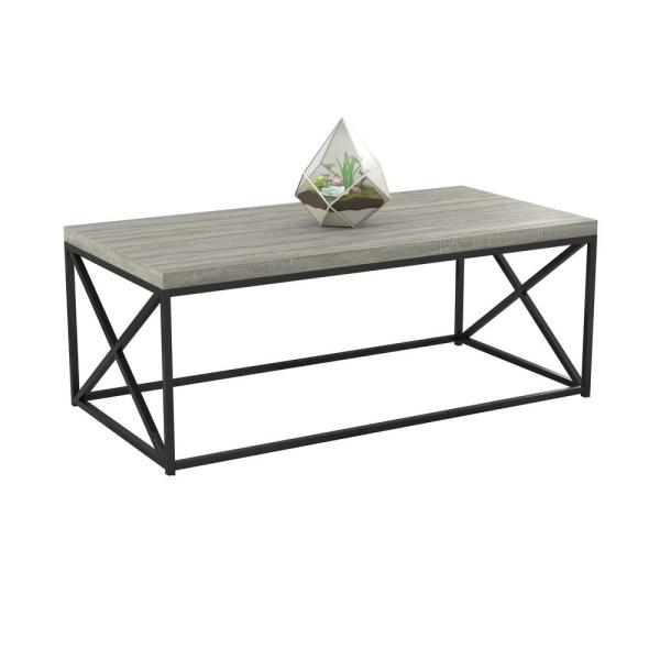 cozy home 44 in gray large rectangle wood coffee table