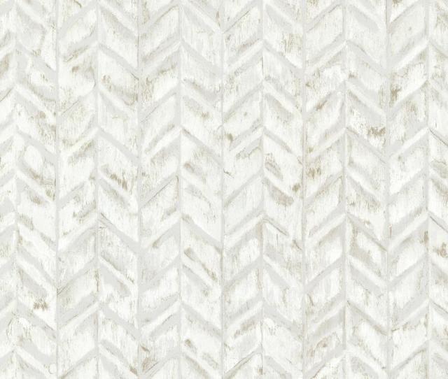 Brewster Ivory Foothills Herringbone Texture Wallpaper Sample
