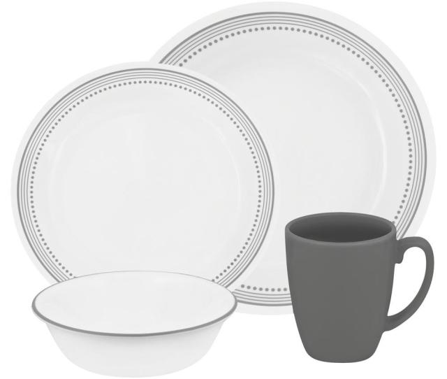 This Review Is Fromclassic  Piece Mystic Gray Dinnerware Set