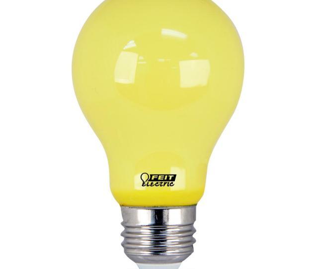 Feit Electric  Watt Equiva T Yellow Colored A Led Bug Light Bulb