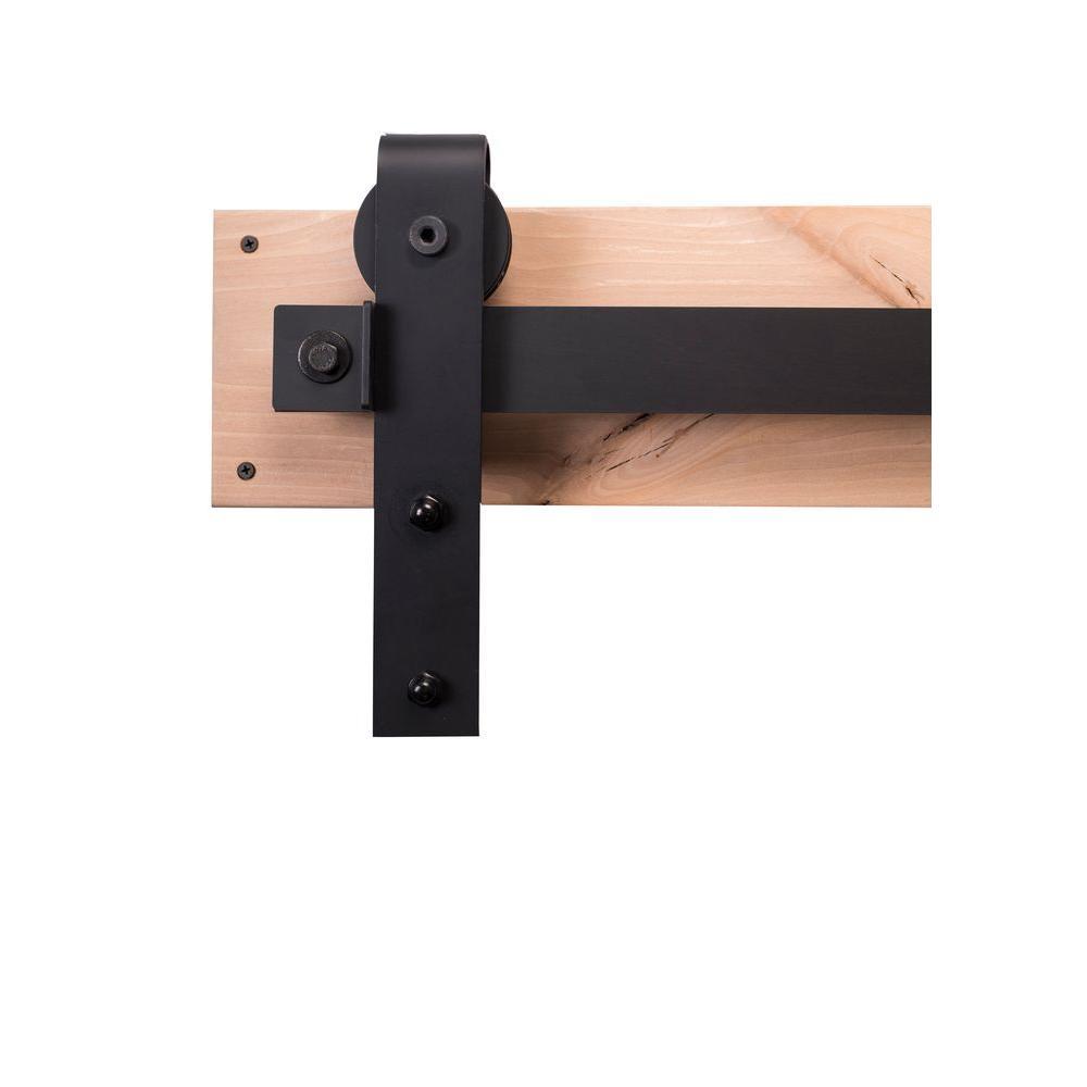 Sliding Barn Door Style Kitchen Cabinets
