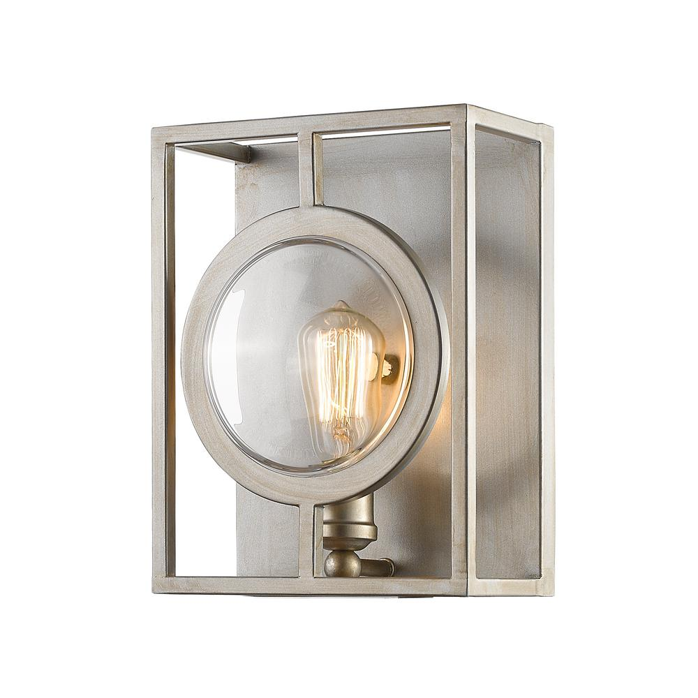 Filament Design Reeta 1-Light Antique Silver Wall Sconce ... on Silver Wall Sconces For Candles id=48799