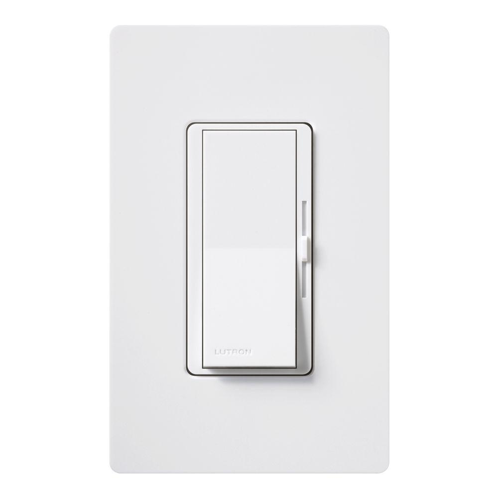 Lutron Diva CL Dimmer Switch For Dimmable LED Halogen And Incandescent Bulbs Single Pole Or 3