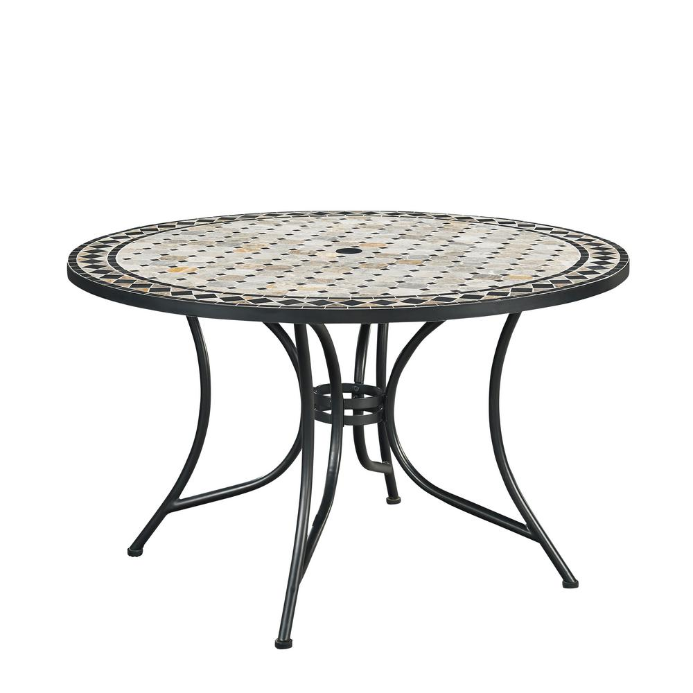 home styles marble top outdoor dining table 5605 32 on Circular Folding Dining Table id=18983