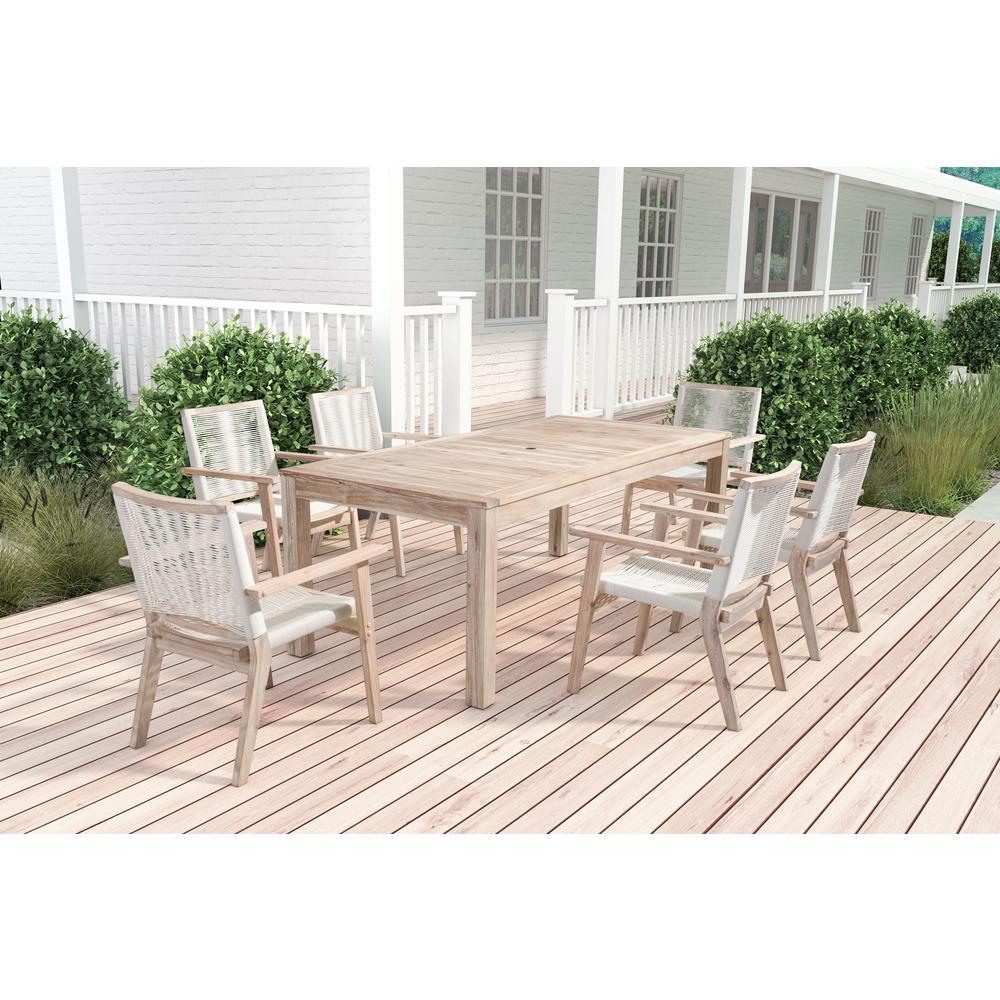 light wood outdoor furniture