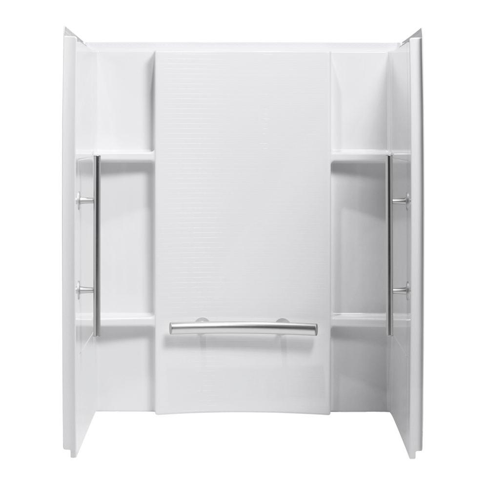 STERLING Accord 36 In X 48 In X 71 In 3 Piece Direct To Stud Alcove Tub Surround In Biscuit