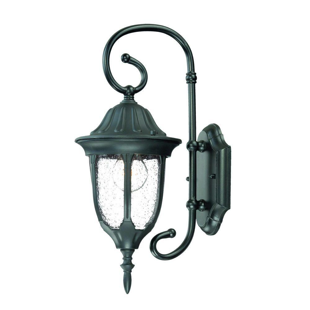 Acclaim Lighting Suffolk Collection 1-Light Matte Black ... on Outdoor Lighting Fixtures Wall Mounted id=50166