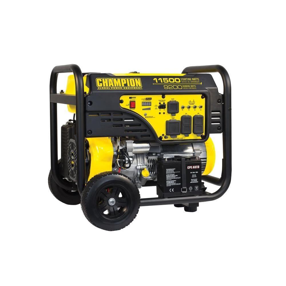 Champion Dual Fuel 9200 Watt Generator