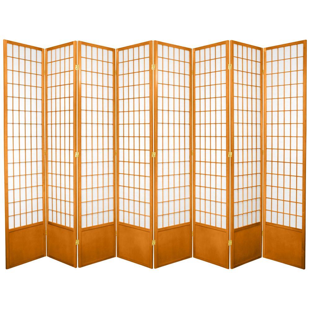 7 ft honey 8 panel room divider