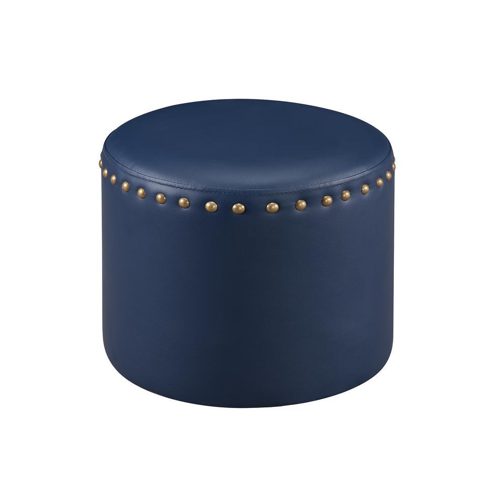 blue ottomans living room furniture