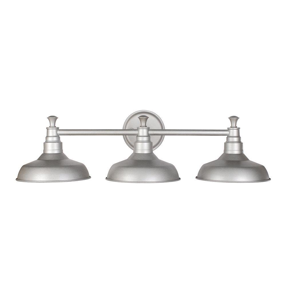 design house kimball 3-light galvanized steel indoor vanity light