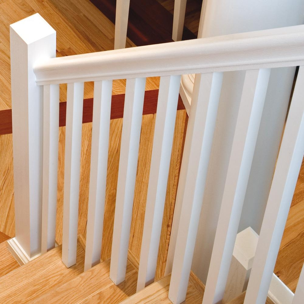 Stair Parts 41 In X 1 1 4 In Primed Square Baluster 5060X 041   Wood Balusters For Sale   Rail Hardware   Wrought Iron Baluster   Deck Railing Spindles   Stair Treads   Stair Parts