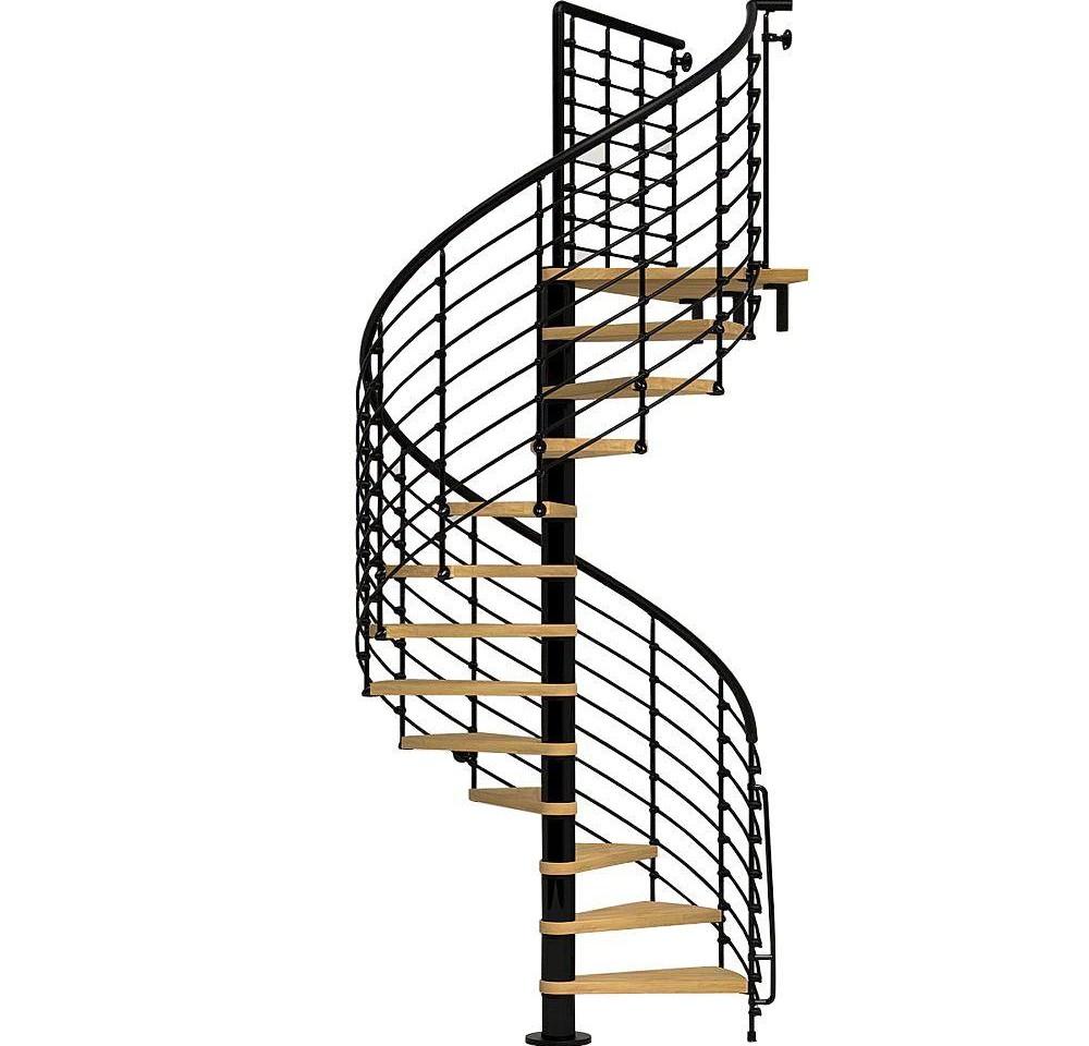 Arke Oak70 Xtra 51 In Black Spiral Staircase Kit K26129 The | Exterior Metal Spiral Staircase | Interior | Outdoor | Free Standing | Custom Exterior | Model