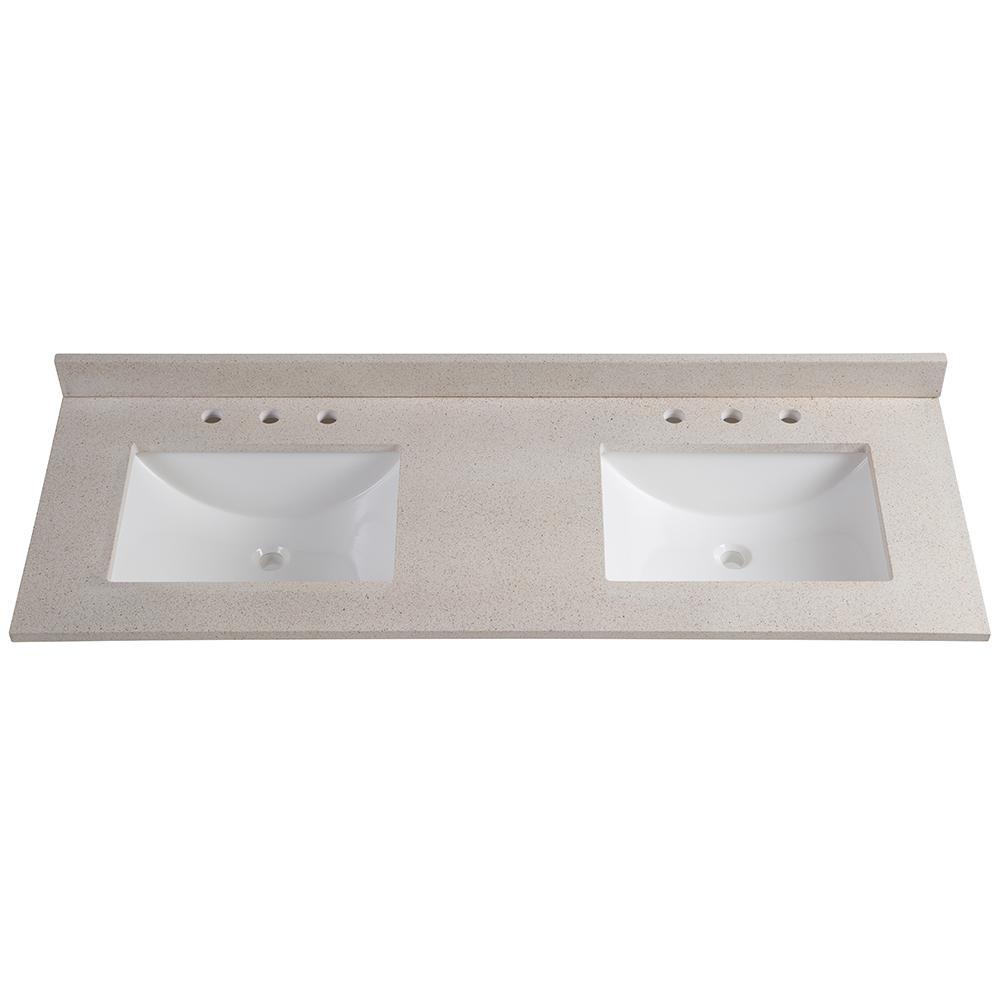 glacier bay - double sink - bathroom vanities - bath - the home depot