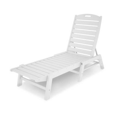 white outdoor chaise lounges patio