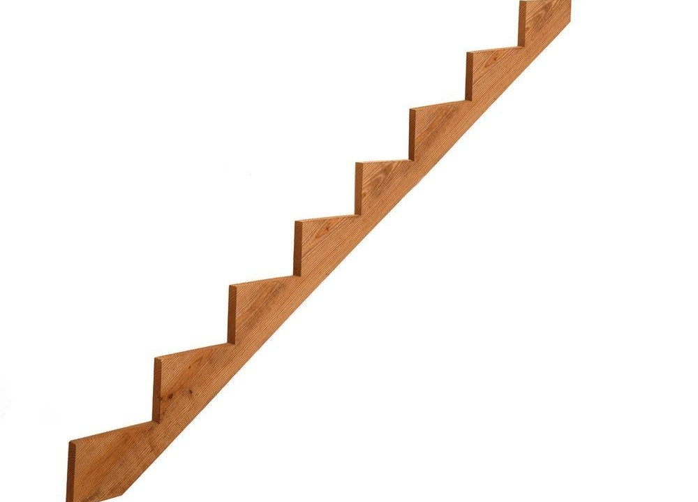 8 Step Pressure Treated Cedar Tone Pine Stair Stringer 215725 | Prefab Wooden Stairs Home Depot | Front Porch | Stair Case | Stair Stringer | Modular Staircase | Spiral Staircase