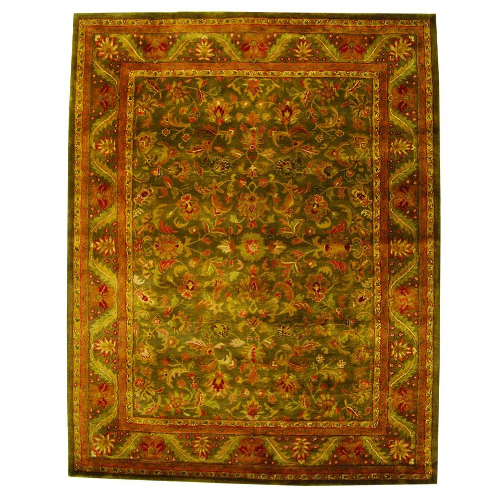 Safavieh Antiquity GreenGold 4 Ft X 6 Ft Area Rug AT52K