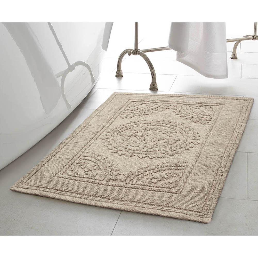 jean pierre cotton stonewash medallion 17 in x 24 in 20 in x 32 in 2 piece bath rug set in taupe grey ymb007630 the home depot