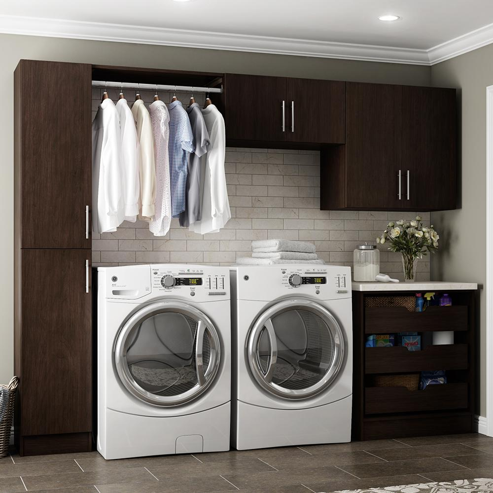 Modifi Horizon 105 in. W Mocha (Brown) Laundry Cabinet Kit ... on Laundry Cabinets  id=17146