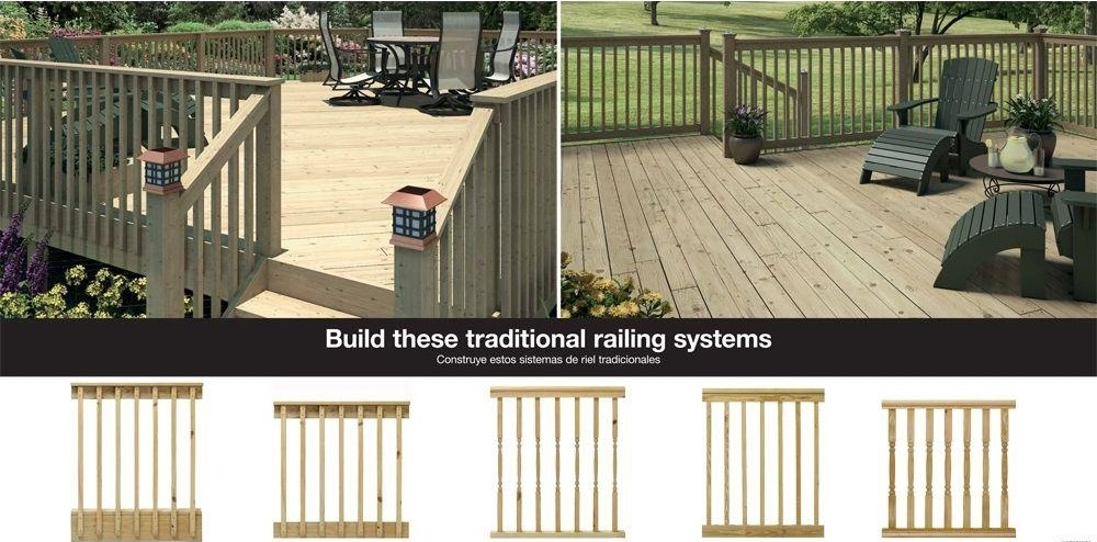 Weathershield 36 In X 2 In X 2 In Pressure Treated Wood Square | Home Depot Railing Spindles | Redwood Deck | Stair Railing | Pressure Treated Lumber | Fence | Stair Parts