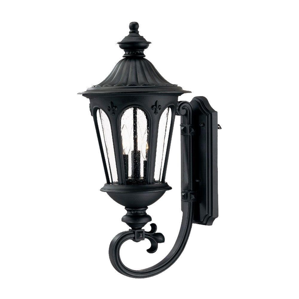 Acclaim Lighting Marietta Collection 3-Light Matte Black ... on Outdoor Lighting Fixtures Wall Mounted id=36370