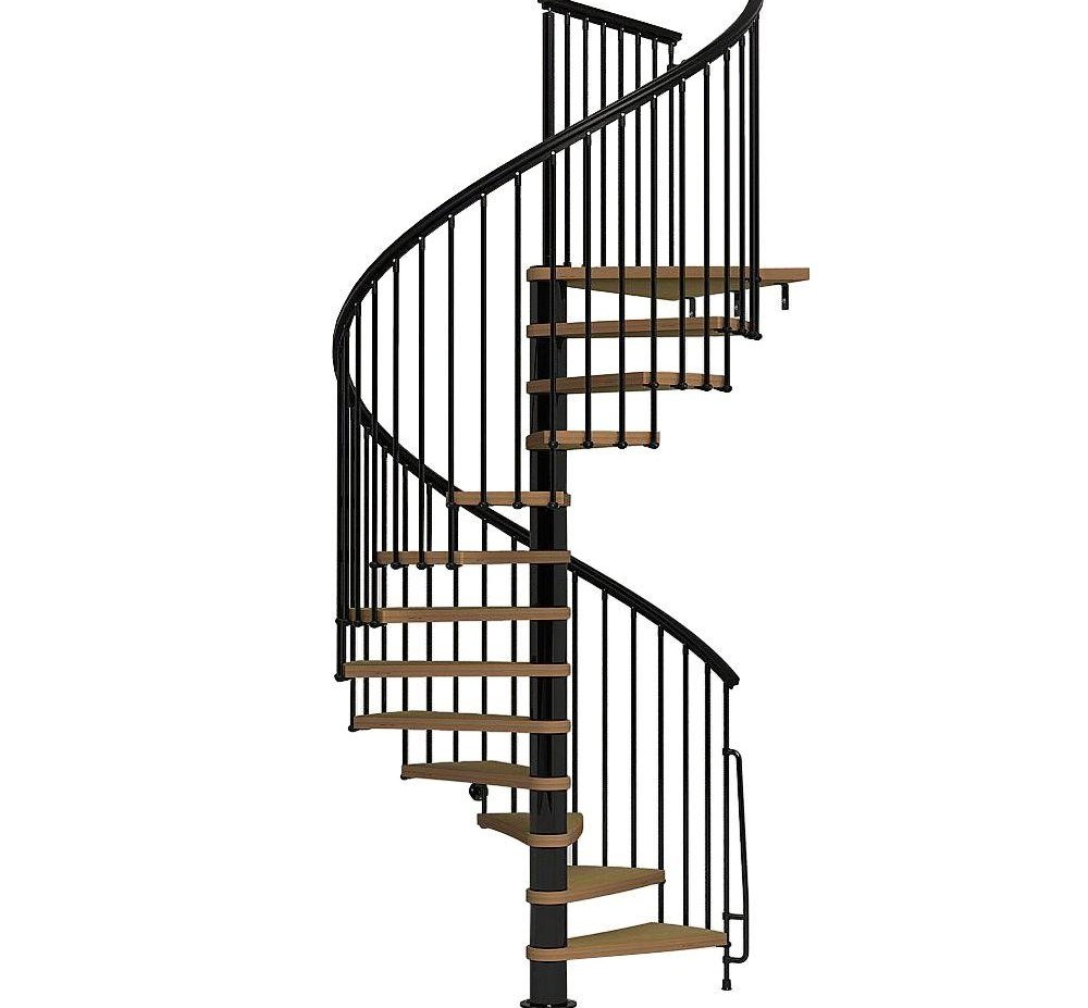 Arke Nice1 63 In Black Spiral Staircase Kit K50107 The Home Depot | Metal Spiral Staircase Prices | Treads | Wrought Iron | Stair Case | Steel Spiral | Stair Treads