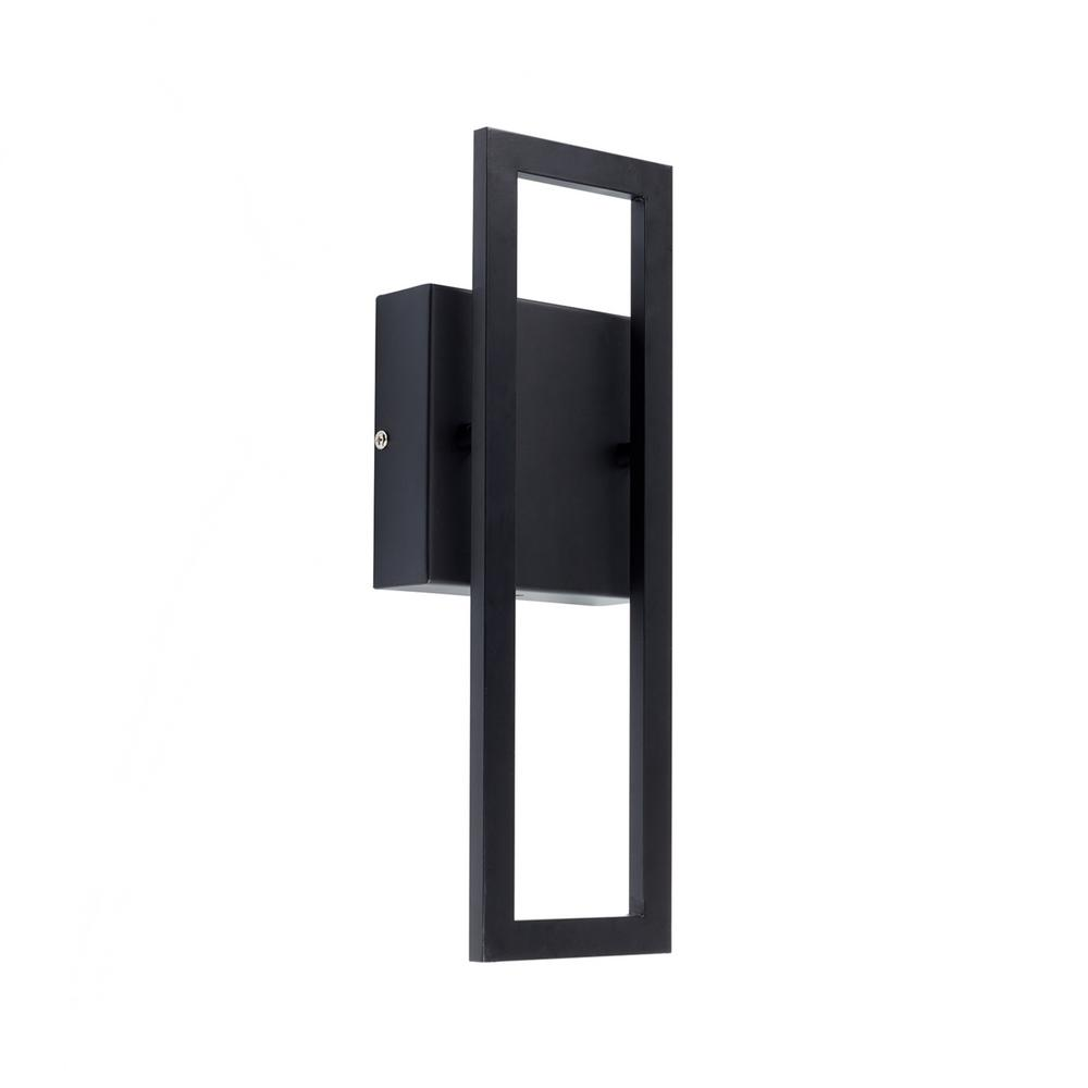 Globe Electric McKay 1-Light Black LED Integrated Outdoor ... on Electric Wall Sconces Indoor id=30961