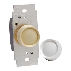 Leviton 600Watt Rotary OnOff Dimmer, WhiteR50066020IW