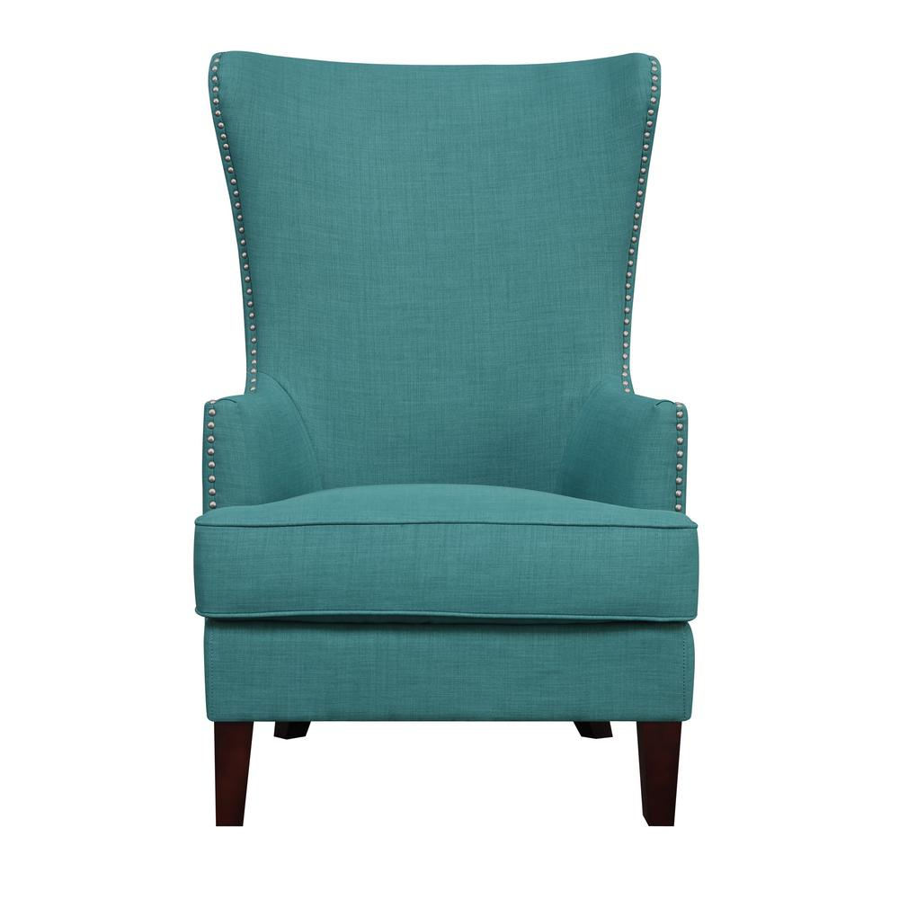 Teal Patterned Accent Chair