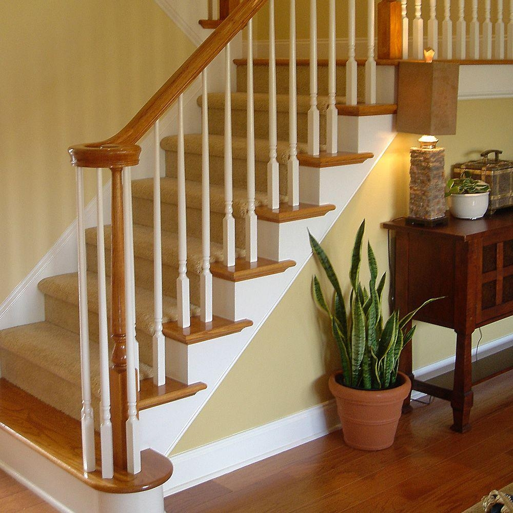 Stair Parts 7035 Red Oak Right Volute Stair Hand Rail Fitting   Red Oak Handrail Home Depot   Staircase   6084   Stair Handrail Fitting   Bending   Oak Stair Treads