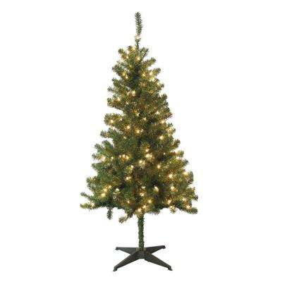 5 Ft Wood Trail Pine Artificial Christmas Tree With 200 Clear Lights