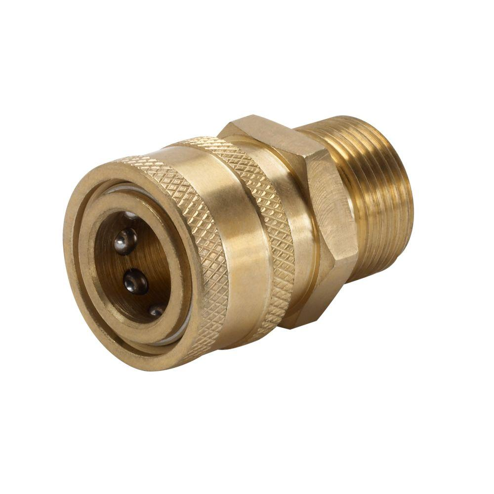 Power Care 38 In Female Quick Connect X Male M22 Connector For Pressure Washer AP31041B The