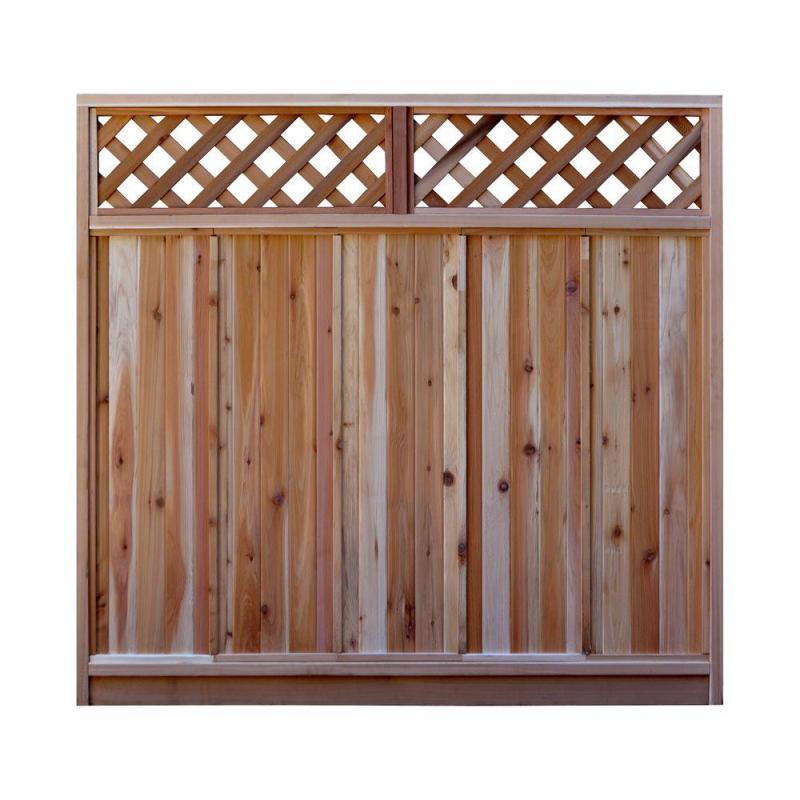 W Western Red Cedar Diagonal Lattice Top Fence