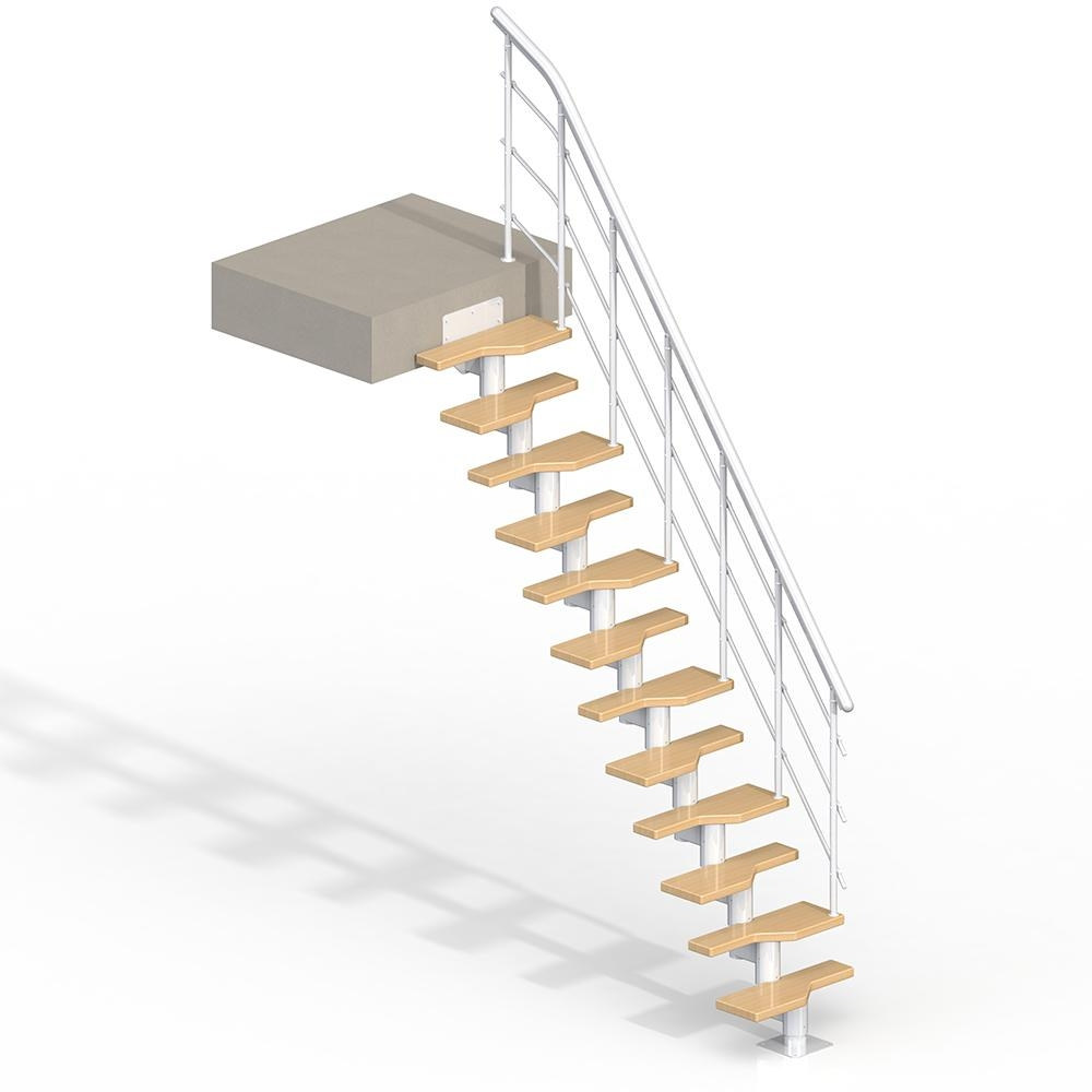 Lugano White 9 Ft Modular Staircase Kit 68420 The Home Depot | 9 Foot Spiral Staircase | 36 Tall | Stair Kit | Modern Staircase | Dolle Toronto | Stair Parts