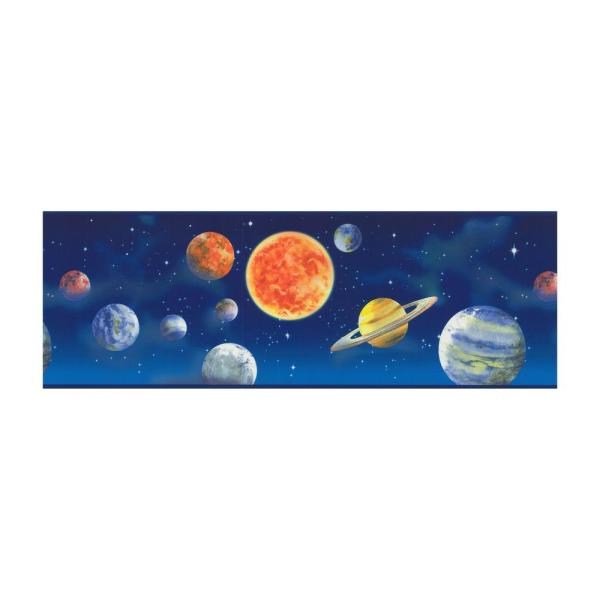 York Wallcoverings Just Kids Planets Wallpaper Border ...