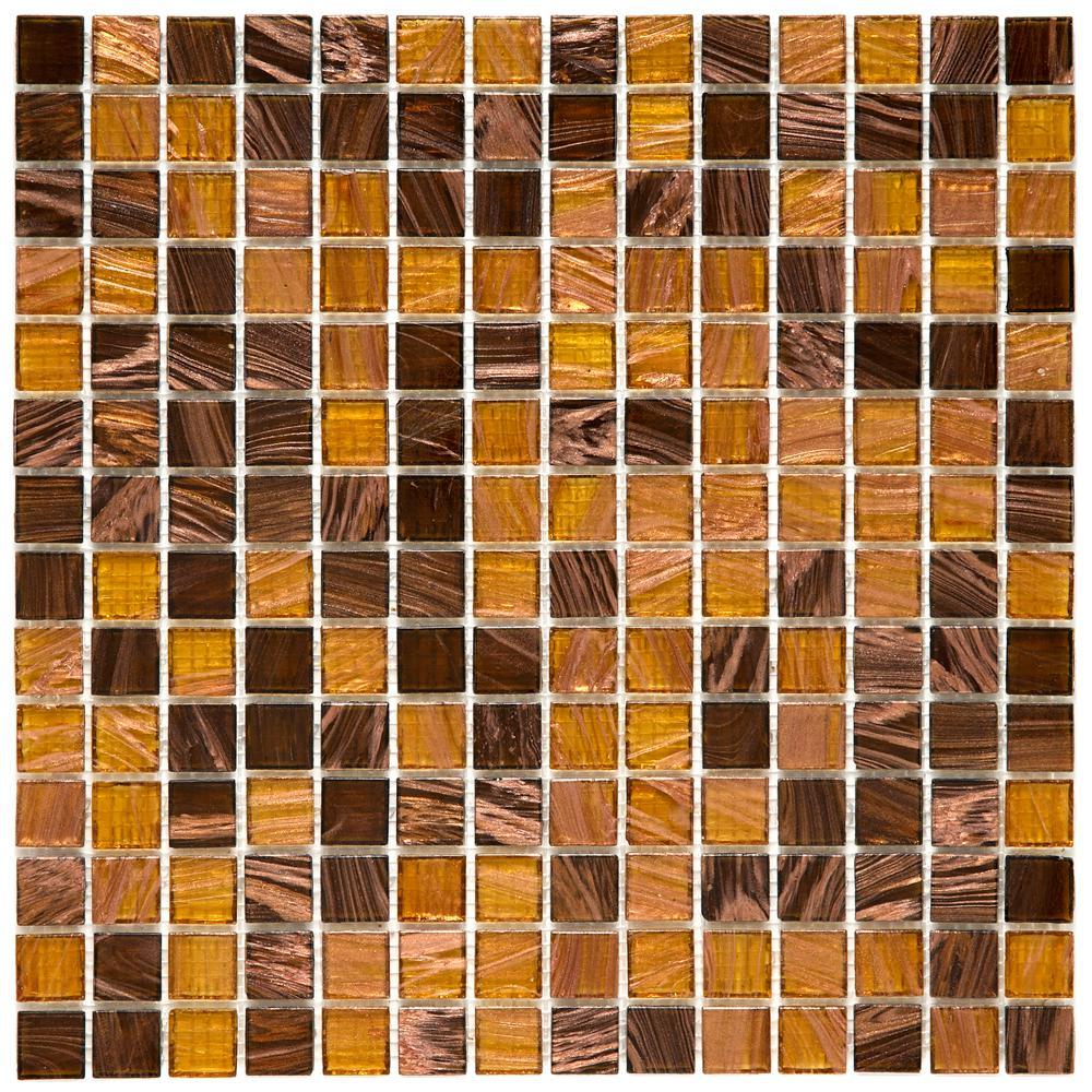 100 small square bright orange ceramic