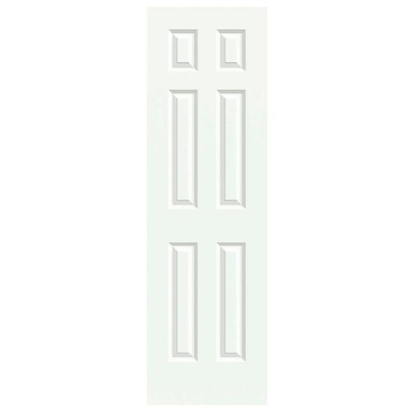 jeld wen 24 in x 80 in colonist white painted textured on Jeld Wen Colonist 24 In X 80 In Primed 6 Panel Solid id=32873