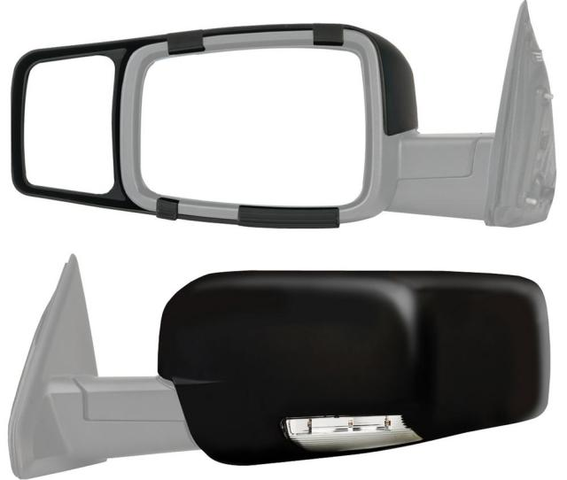 Snap Zap Clip On Towing Mirror Set For 2009 2014 Dodge Ram 1500