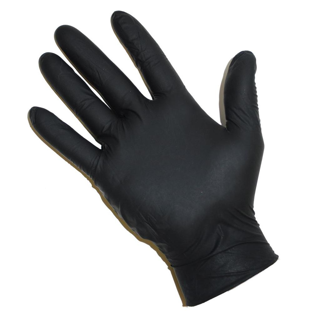 West Chester Powder Free Black Nitrile Disposable Gloves