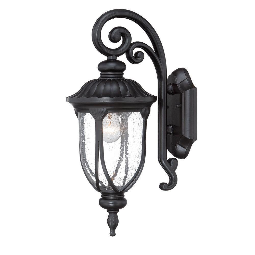 Acclaim Lighting Laurens Collection 1-Light Matte Black ... on Outdoor Lighting Fixtures Wall Mounted id=95344