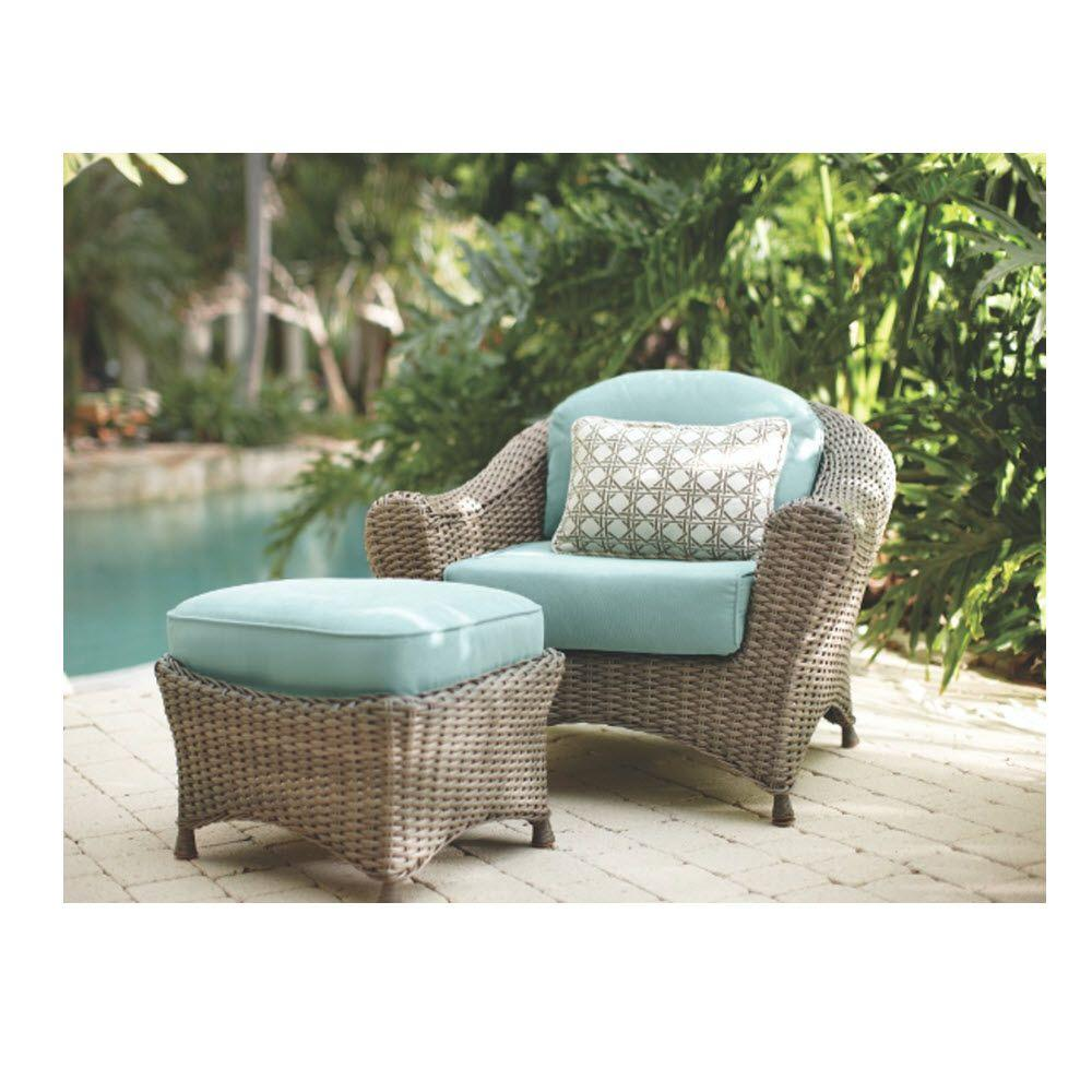 Martha Stewart Living Lake Adela Weathered Gray 2-Piece ... on Martha Stewart Wicker Patio Set id=46497