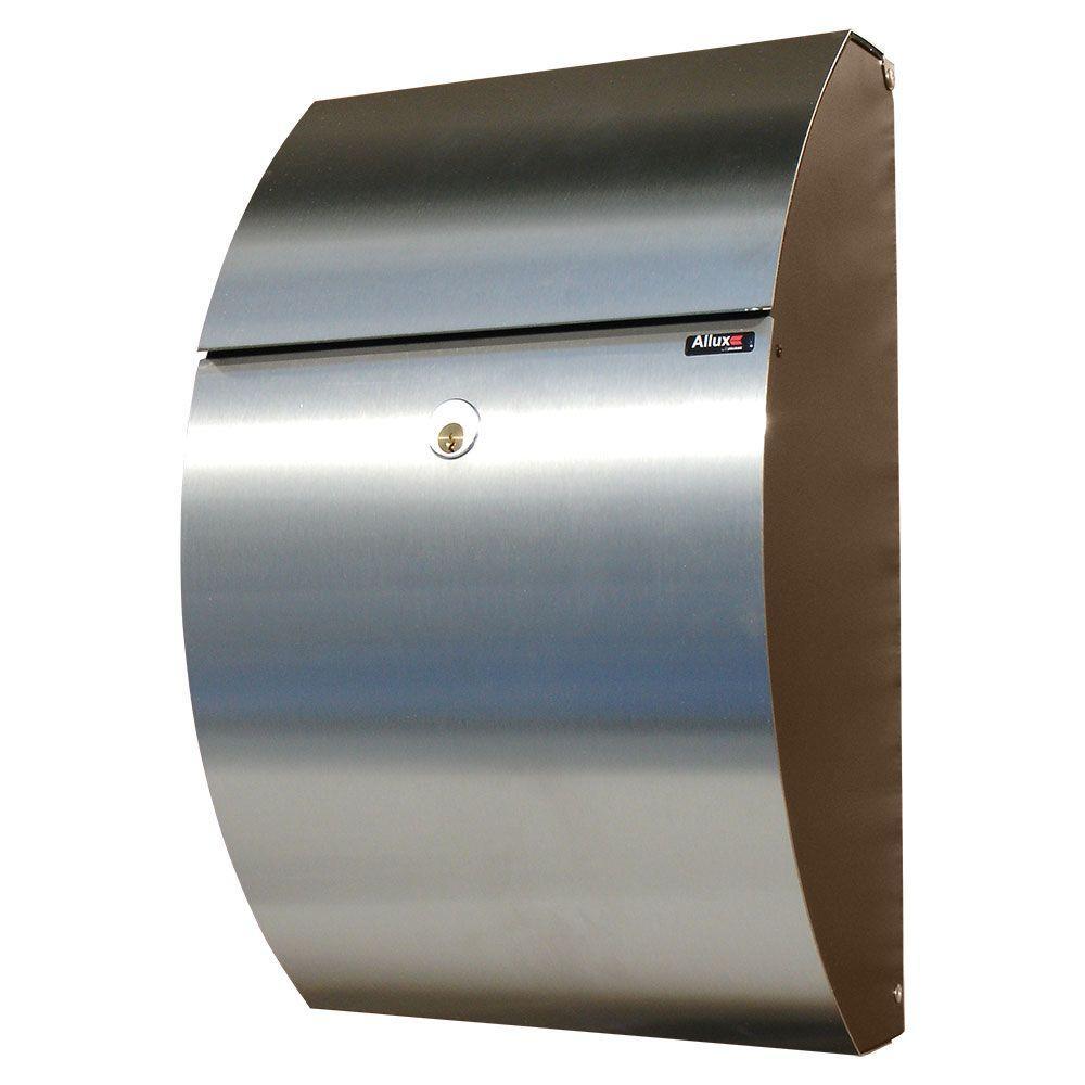 Black/Stainless Locking Mailbox