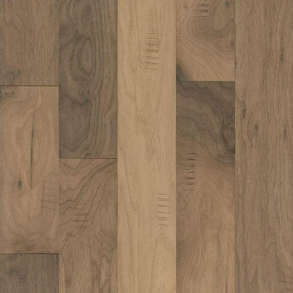 Engineered Hardwood   Wood Flooring   The Home Depot Walnut Shades of White 3 8 in  Thick x 5 in  Wide x