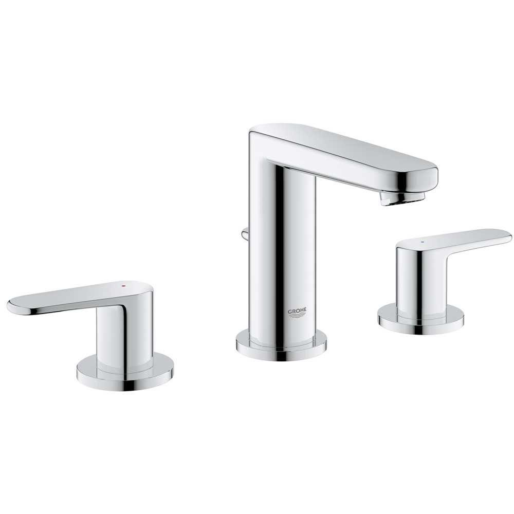 grohe europlus 8 in. widespread 2-handle low arc bathroom faucet