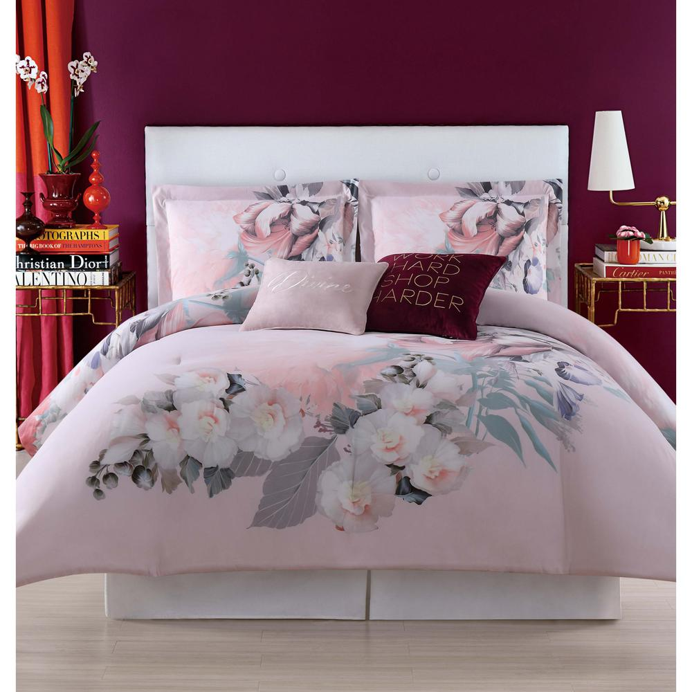 Christian Siriano Dreamy Floral King Comforter Set